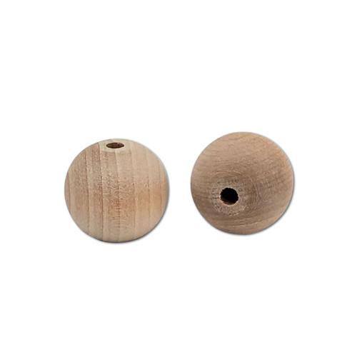 """1"""" Natural Wood Bead -"""