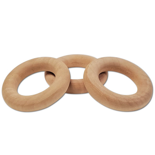 """1-3/4"""" Natural Wood Toss Ring -"""