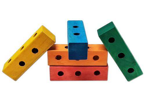 "6"" x 1-3/4"" 5 Hole Color Block -"