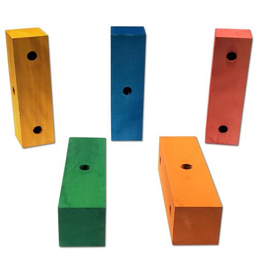 "6"" x 1-3/4"" 3 Hole Color Block -"