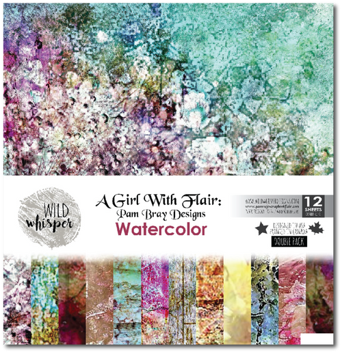 Pam Bray Watercolor 12x12 inch DOUBLE Paper Pack WWWC02