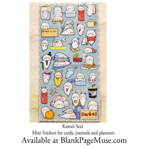 Koniwa Kawaii Seal Mini Sticker Sheet