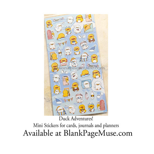 Nekoni Cute Duck Adventures Sticker Sheet