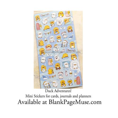 Nekoni Cute Duck Adventures Sticker Sheet