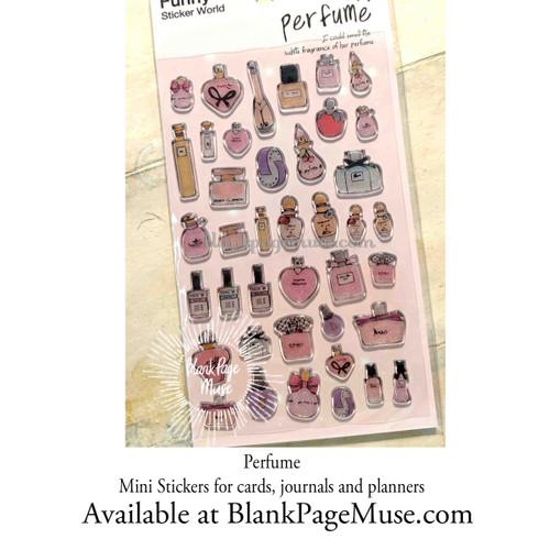 Latech Perfume Bottles Sticker Sheet