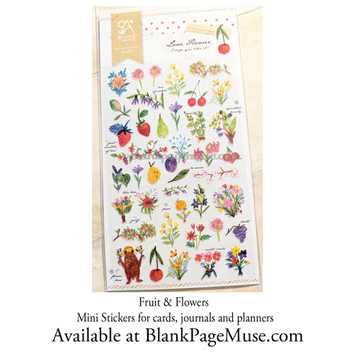 Sonia J Love Wild Flower & Fruit Stickers Sheet