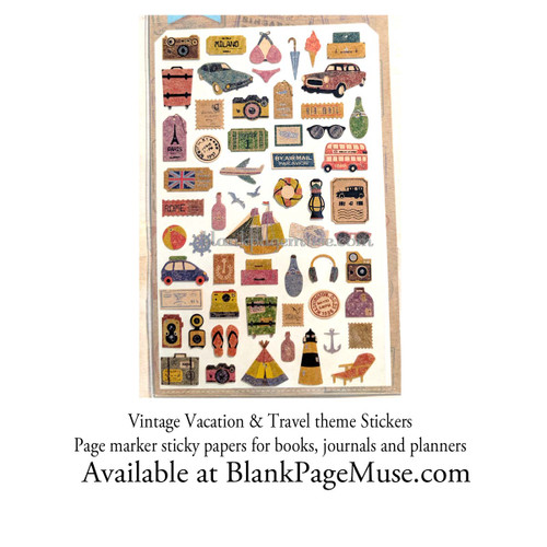 Sonia J Travel & Vacation Story Sticker Vintage Style Sheet