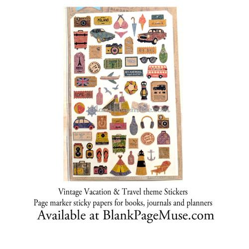 Sonia J Travel & Vacation Story Sticker Vintage Style Sheet