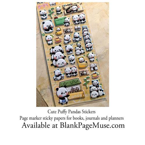 Koniwa Panda Puffy Nekoni Sticker Sheet