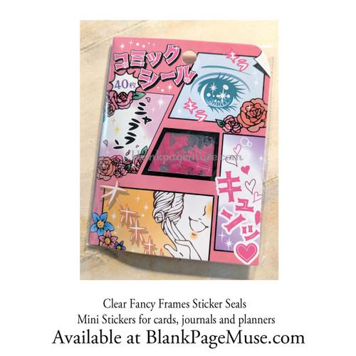 Mind Wave Comics Bubbles Clear Frames Sticker Pack