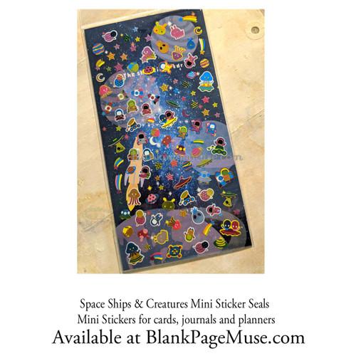 Mind Wave Space Ship & Creatures Mini Sticker Sheet