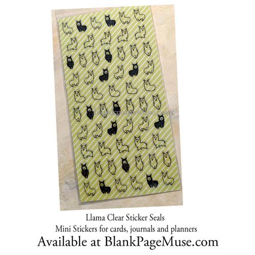 Mind Wave Llama Clear Mini Sticker Sheet