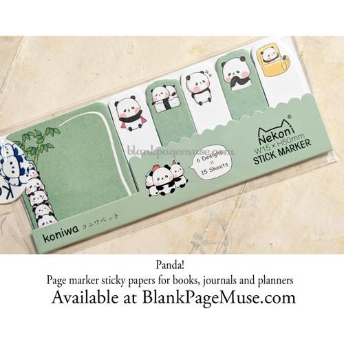 Nekoni Panda Stick Marker Page Stickers