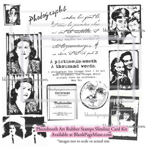 Photobooth Collage Slimline Rubber Stamp KIT KITPhb
