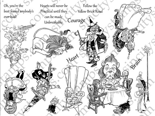 The Wizard of Oz II Art Rubber Stamp Sheet Set SC65