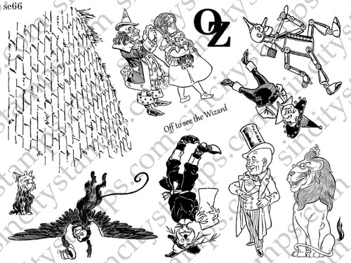 The Wizard of Oz III Art Rubber Stamp Sheet Set SC66
