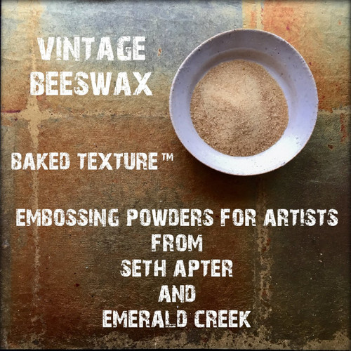 Baked Texture Artist Embossing Powder by Seth Apter & Emerald Creek VINTAGE BEESWAX