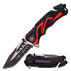 Red Firefighter Rescue Pocket Knife
