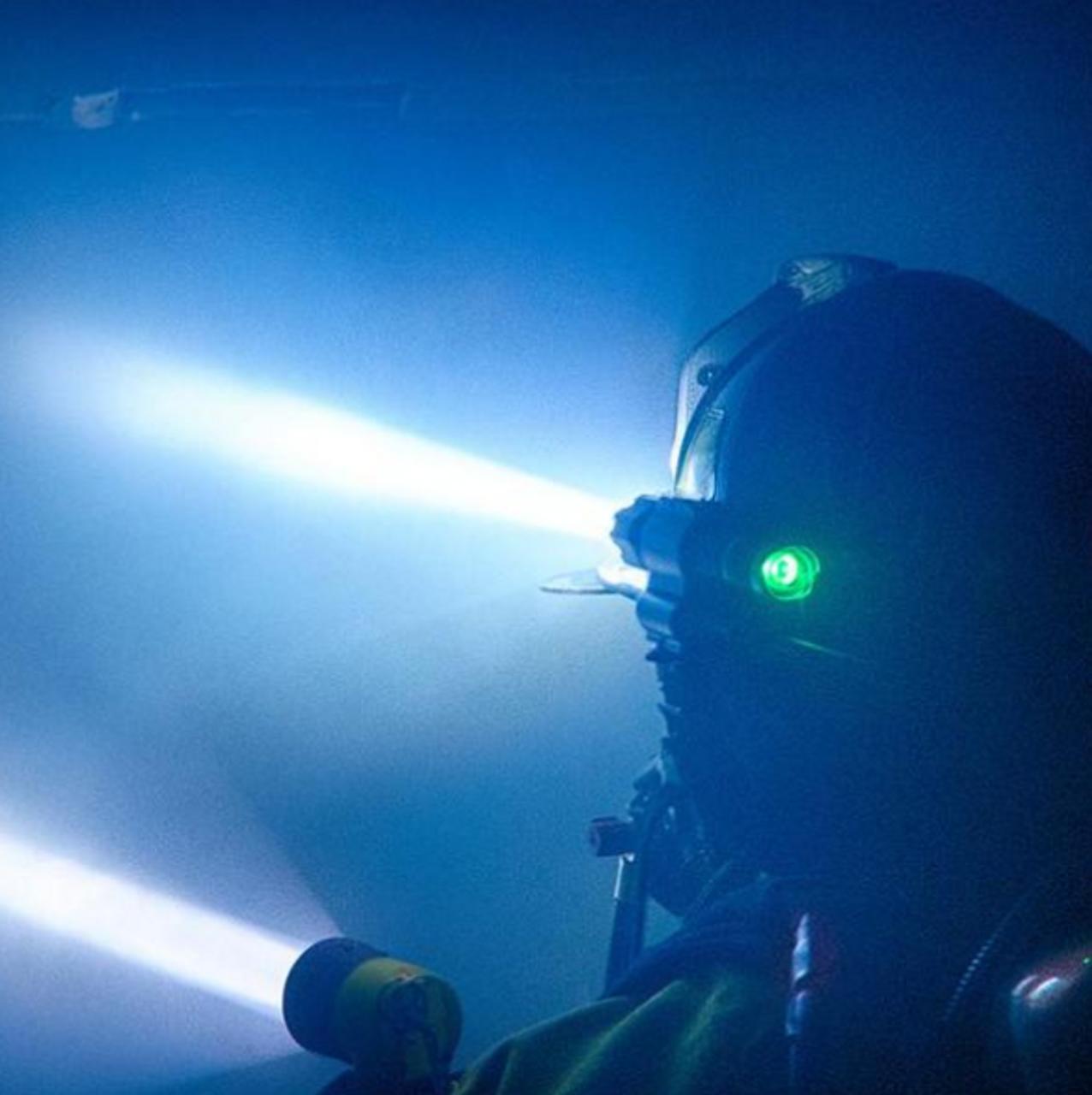 foxfury sideslide c-clamp side mounted fire helmet light