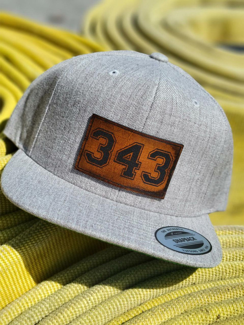 343  Leather Patch Baseball Hat