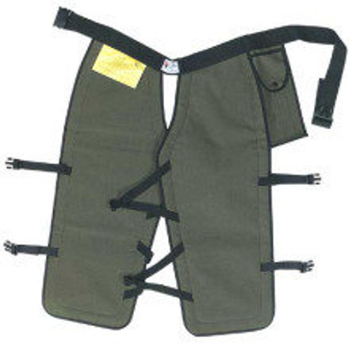 Chain Saw Chaps Four-Ply DuPont Kevlar, Green Non Compliant