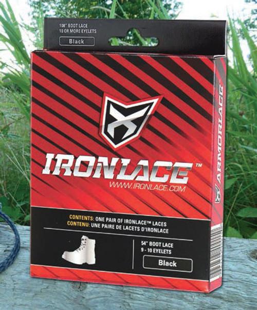 "Ironlace 72"" Black Boot Laces"
