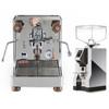 LELIT PL162T BIANCA e61 Double Boiler PID 0.8/1.5L Espresso Coffee Machine - V2 - EUREKA MIGNON SPECIALITA Coffee Grinder - CHROME - Package