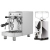 BEZZERA BZ10 1.5L Espresso Coffee Machine - EUREKA MIGNON SILENZIO Coffee Grinder - Chrome - Combo - With Free Extras