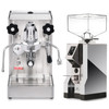LELIT PL62X MARA X e61 1.8L Espresso Coffee Machine - EUREKA MIGNON SPECIALITA Coffee Grinder - CHROME - Package