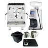 BEZZERA MITICA e61 PID 2L Espresso Coffee Machine - V2 - EUREKA ATOM Coffee Grinder - CHROME - Package - With Accessories