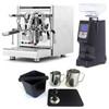 ECM TECHNIKA V e61 PID 2.1L Espresso Coffee Machine - EUREKA ATOM Coffee Grinder - BLACK - Combo - With Accessory Package