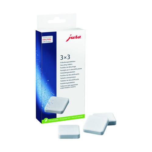 JURA Descaling Tablets - 3 cycles - 9 Tabs