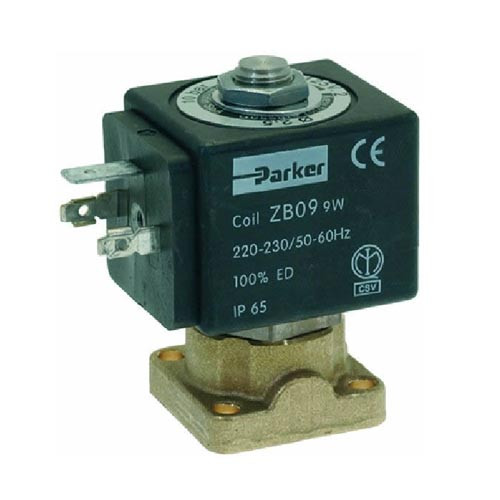 2-Way Solenoid Viton Seal Flat Base ZB09 9w 220-240V PARKER