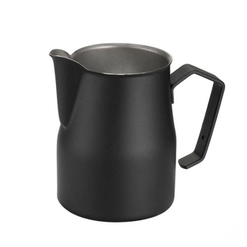 Motta Europa 500ml Milk Steaming Jug / Pitcher Black