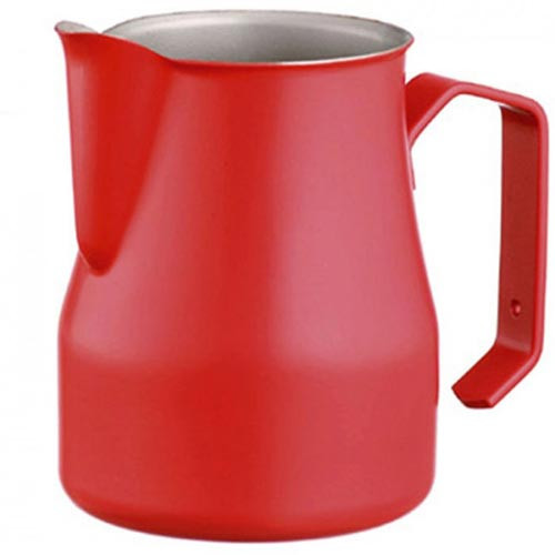 Motta Europa 750ml Milk Steaming Jug / Pitcher Red