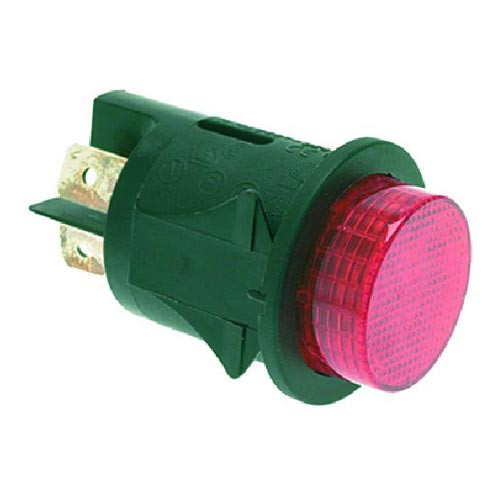 Bipolar Momentary Switch Red Push 16A 250V 25mm hole