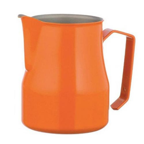 Motta Europa 750ml Milk Steaming Jug / Pitcher Orange