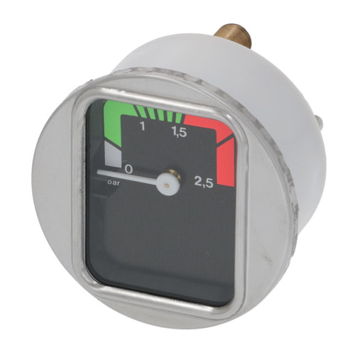 "Boiler Pressure Gauge / Manometer - Black Face - OD 70mm - Hole 63mm - 1/8"" BSPM Connection - PAVONI"