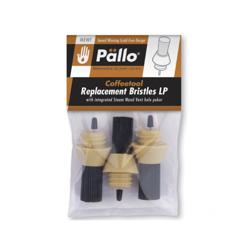 Replacement Bristles /  Brushes for Pallo Coffee Tool 3-Pack