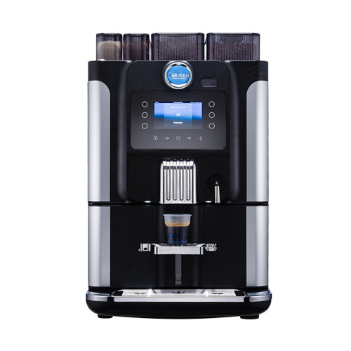 Carimali Blue Dot Automatic Coffee Machine 2 Grinder 2 Instant Tank or Plumb - Black