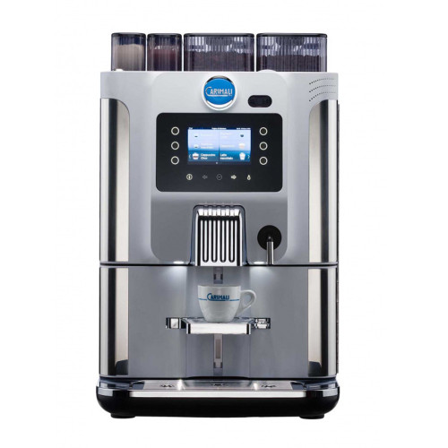 Carimali Blue Dot Automatic Coffee Machine 2 Grinder 2 Instant Tank or Plumb - White