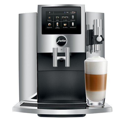 JURA S8 Automatic Espresso Coffee Machine - Chrome