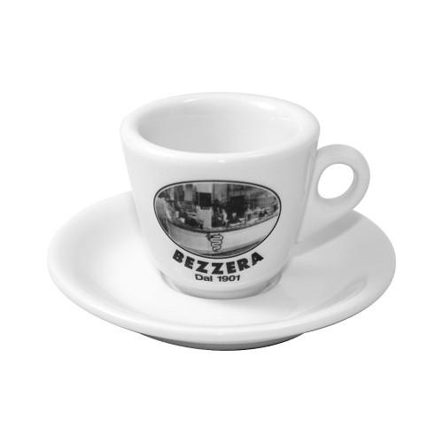 """Bezzera Espresso Cups - """"Bezzera Since 1901"""" Set of 6x"""