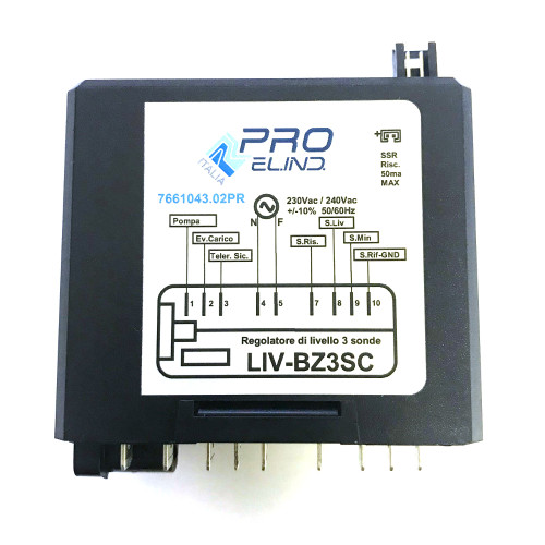 Control Box - Water Level Auto-fill Regulator - 230Vac - LIV-BZ3SC