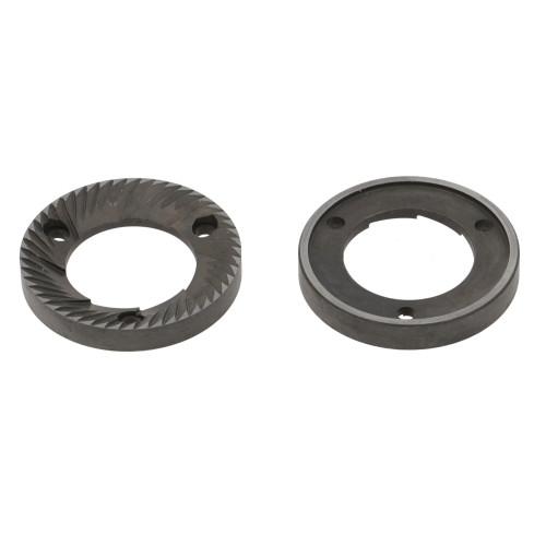 Coffee Grinder Blades / Burrs Flat 54x32x8mm LH SX CCW 3 hole (Pair) - ANFIM 54
