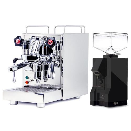 ECM MECHANIKA V SLIM e61 2.2L Espresso Coffee Machine - EUREKA MIGNON SILENZIO Coffee Grinder - BLACK - Combo