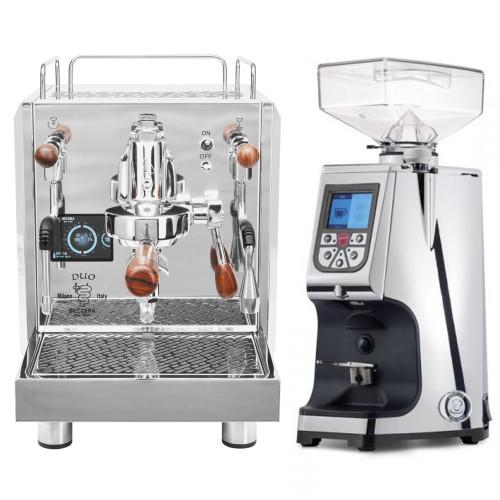 BEZZERA DUO e61 Double Boiler PID 0.45/1.0L Espresso Coffee Machine - EUREKA ATOM Coffee Grinder - CHROME - Package