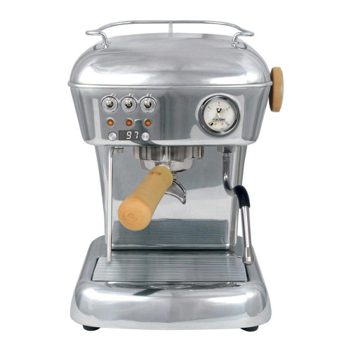 ASCASO Dream PID Espresso Coffee Machine and I-Mini Grinder Polished Aluminium Combo
