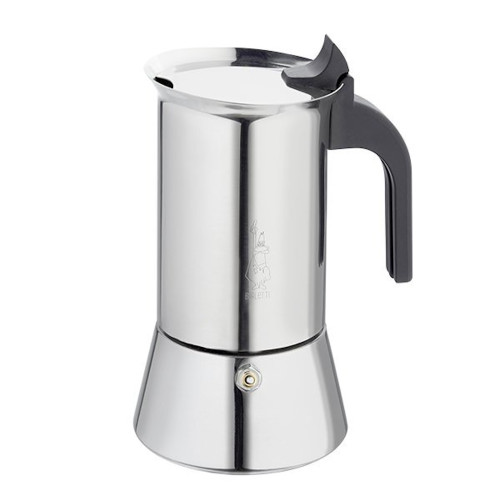 BIALETTI Stovetop Espresso Coffee Maker - 6 Cup - Venus - Stainless Steel