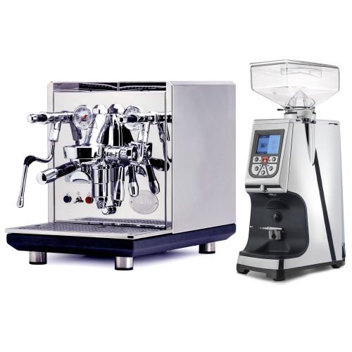 ECM SYNCHRONIKA e61 Double Boiler PID 0.75/2L Espresso Coffee Machine - V3 - STAINLESS STEEL - EUREKA ATOM 60 Coffee Grinder - CHROME - Package